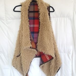 Super soft Furry Vest.  Size M?